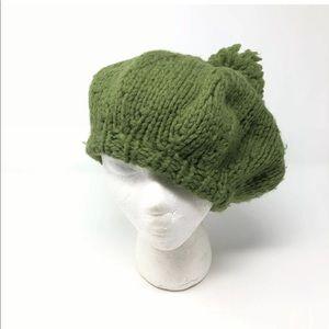 Vintage Handmade knit Hat with pom pom Boho